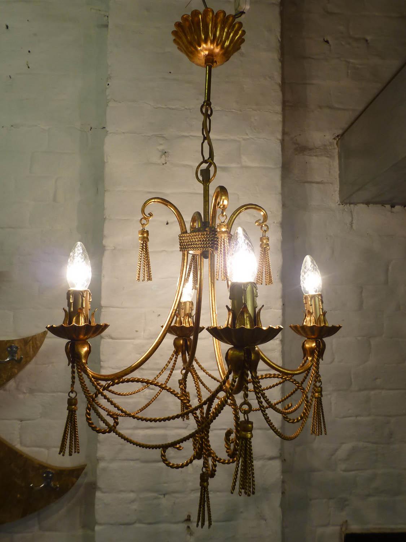 junk deluxe christopher wray gilt pendant light